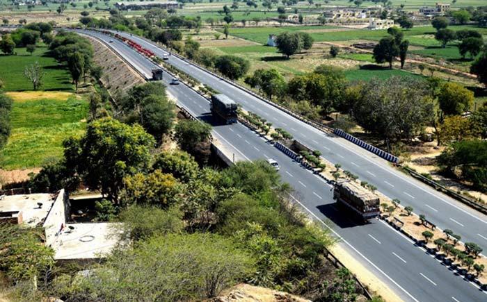 Jaipur Mahua Tollways(マップ1、本線上空)