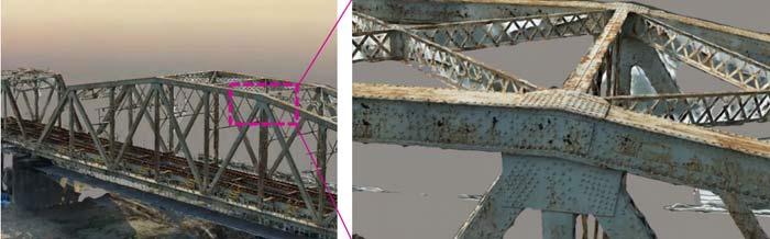 3Dモデリングした鉄道橋