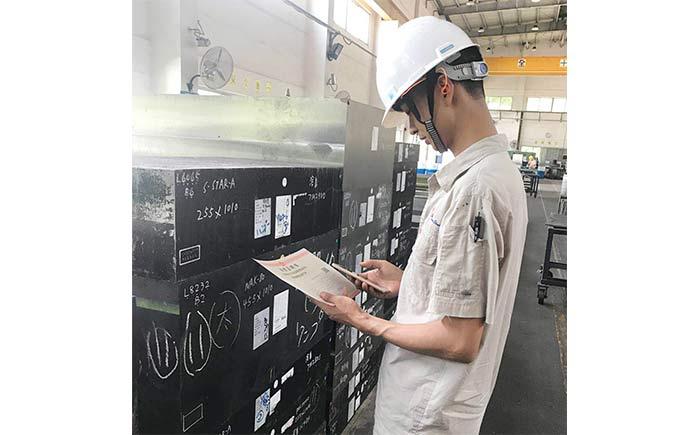 金型用鋼材トレーサビリティシステム活用の様子(イメージ)