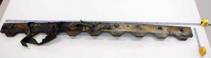 破損した伸縮装置