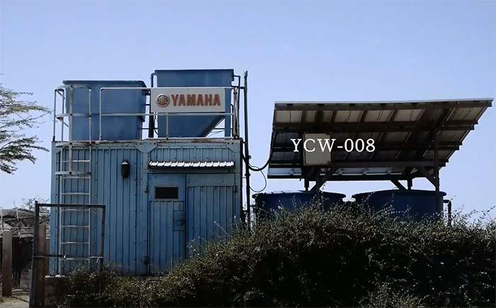 YCW-008は、集落に流れる川などの水源から汲み上げられた原水を自然界の仕組みを応用した「緩速ろ過式」で浄水にする。