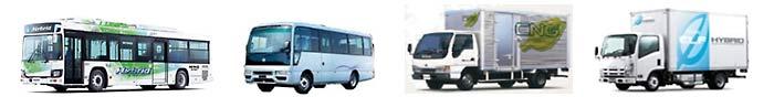 ハイブリッド・CNGバス、ハイブリッド・CNGトラック