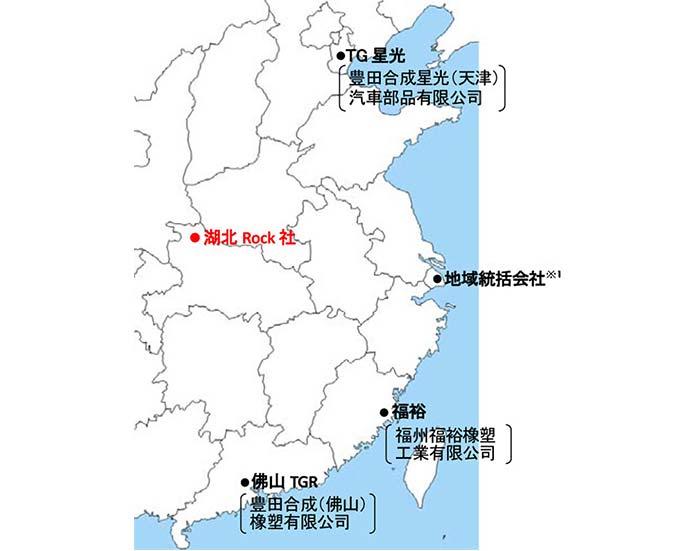 中国でのウェザストリップの生産体制