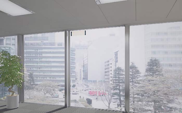 ガラスアンテナ施工の様子(イメージ)