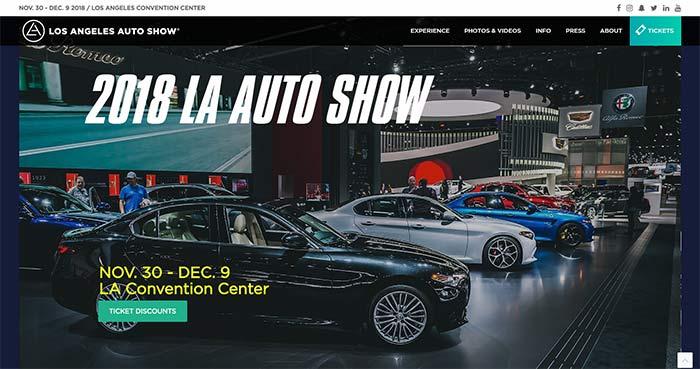 ロサンゼルス自動車ショー2018・HP
