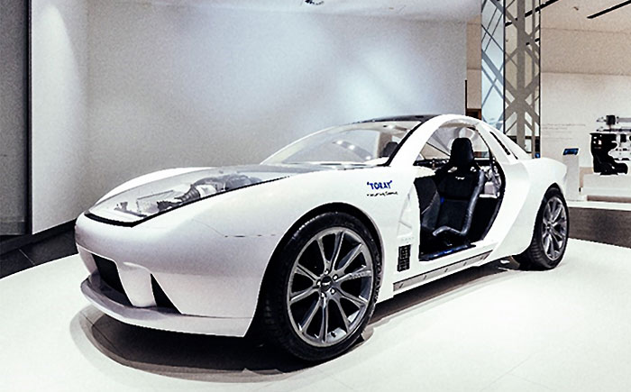 AMCEUに設置されたコンセプトカー(TEEWAVE AC3)