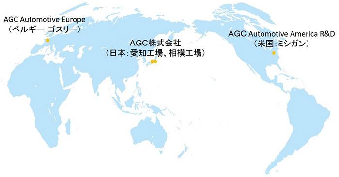 AGCの自動車用ガラスアンテナの開発体制