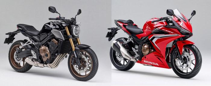CB650R(左)とCBR400R(右)
