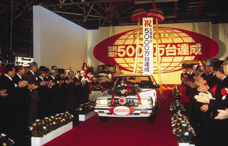 生産累計1000万台達成、1000万号車ラインオフ式(1972年)