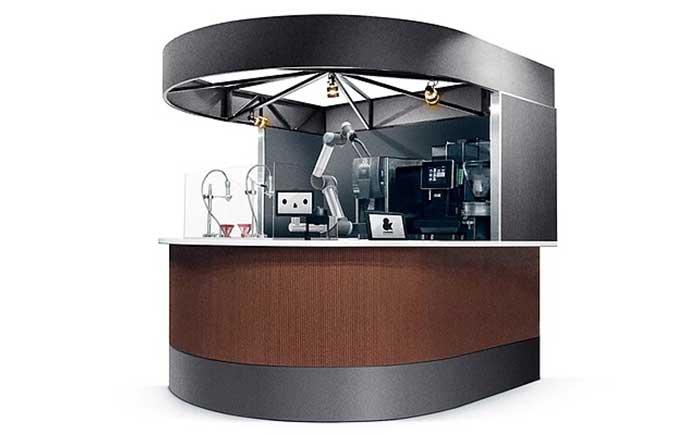 QBIT社が UCCグループと共同し実現するロボットカフェのパッケージ「&robot café system」(イメージ)