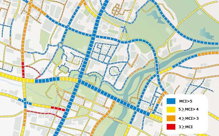 舗装状態可視化のイメージ