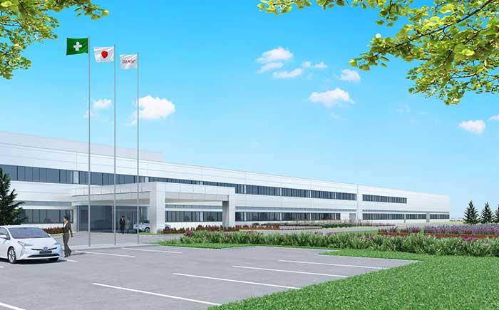 デンソー北海道 工場拡張後完成イメージ
