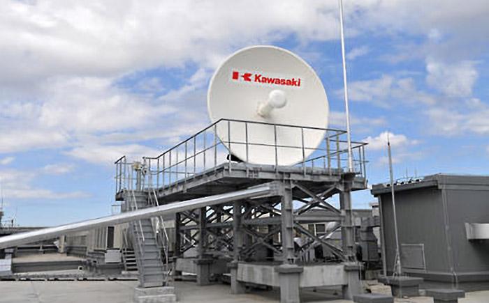 岐阜工場に設置した宇宙ごみ除去衛星運用のための地上局