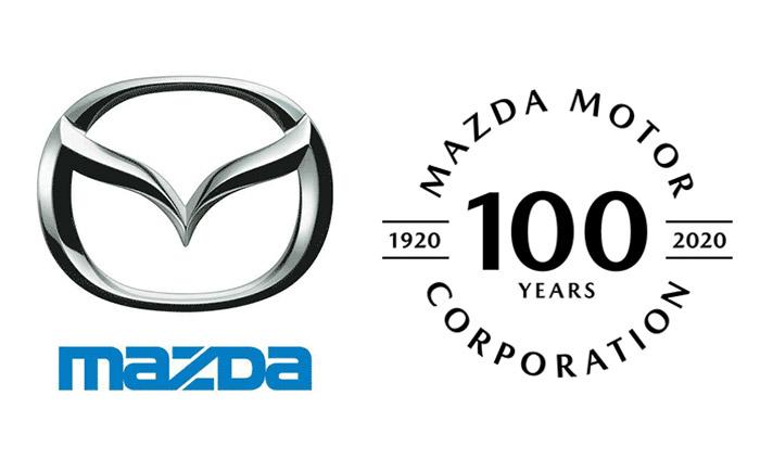 マツダロゴと100周年記念ロゴ