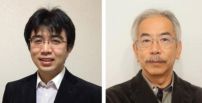 番組に出演する東工大の瀧ノ上准教授(左)と、小長谷名誉教授(右)