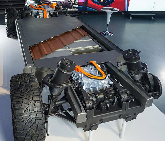 GM開発の「Ultium(アルティウム)」バッテリー搭載のグローバルEVプラットフォーム。