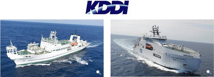 国際ケーブル・シップの「KDDIオーシャンリンク」と「KDDIケーブルインフィニティ」