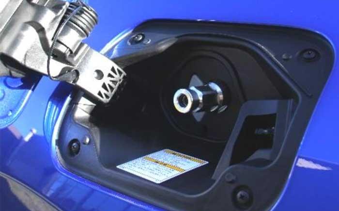 使用例の一部(車両側水素充填口)