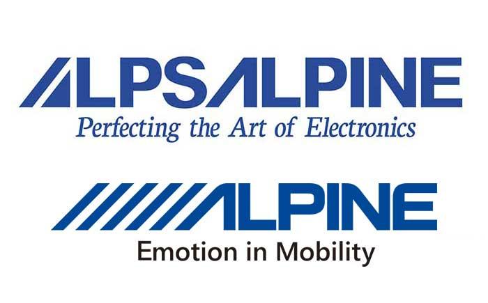 アルプスアルパインとアルパインマーケティング・ロゴ