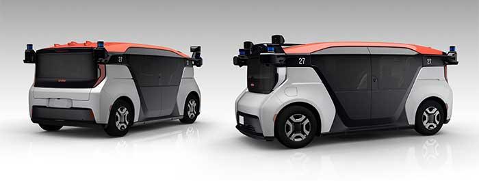 クルーズ・オリジン:GMとクルーズ、ホンダの3社が共同開発する自動運転モビリティサービス事業専用車両。