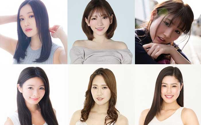 [上段左から]綾瀬まお氏、神尾美月氏、沢すみれ氏。 [下段左から]はらことは氏、藤澤響花氏、真木しおり氏