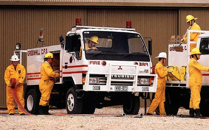 1989年に豪州に導入された「キャンター」の4×4モデル。