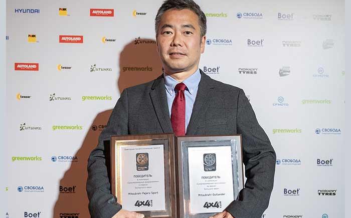 授賞式でのMMC Rusの岩場理社長兼CEO。
